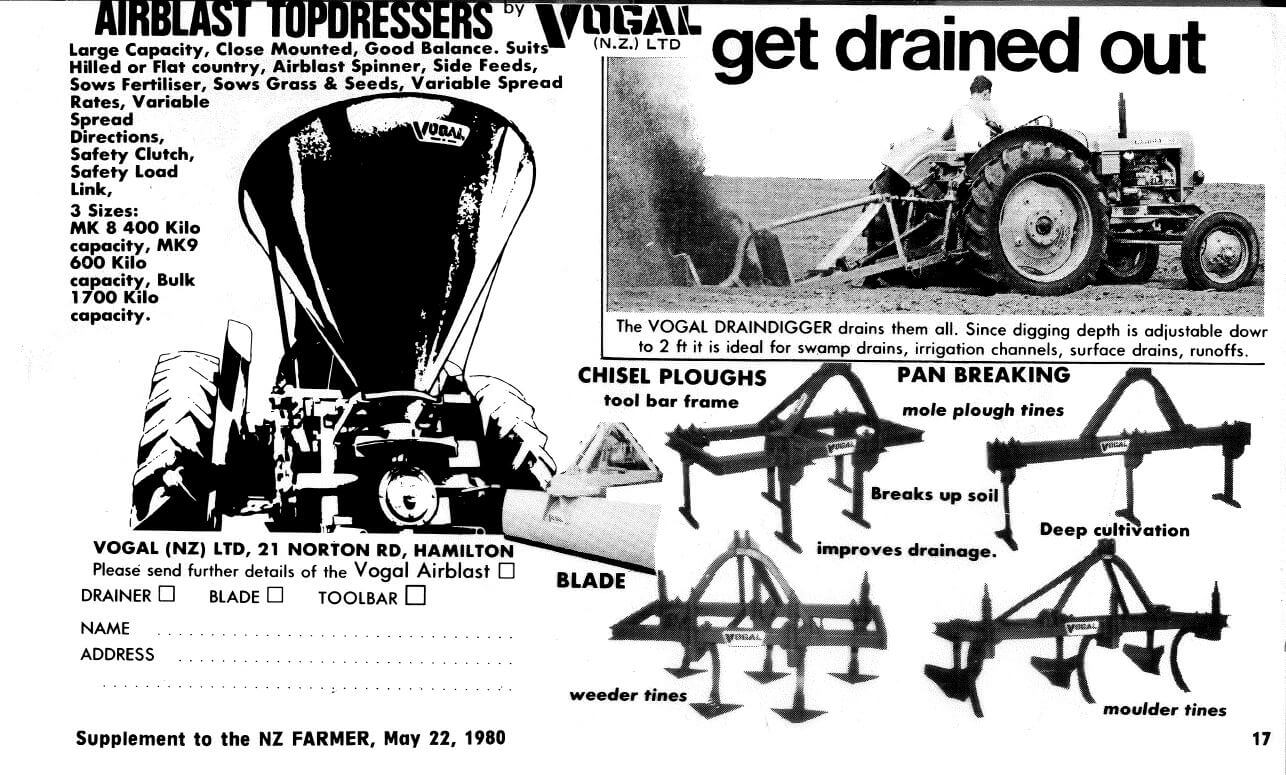 Vogal advertisement in the NZ Farmer - May 22, 1980