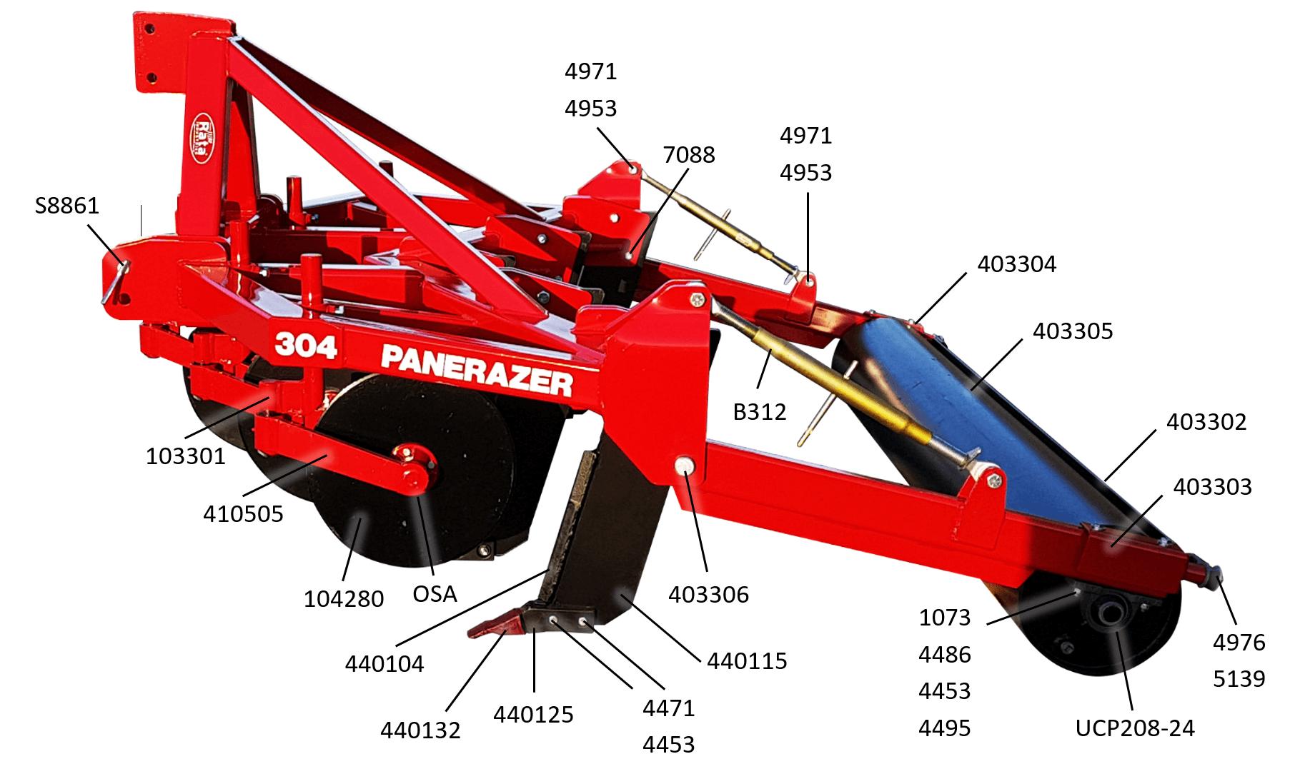 304P5 Parts Diagram