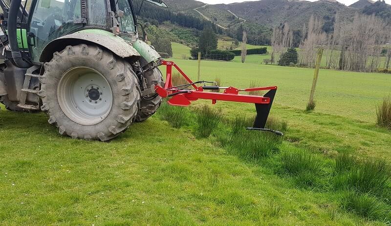 Rata Access Mole Plough starting in a drain
