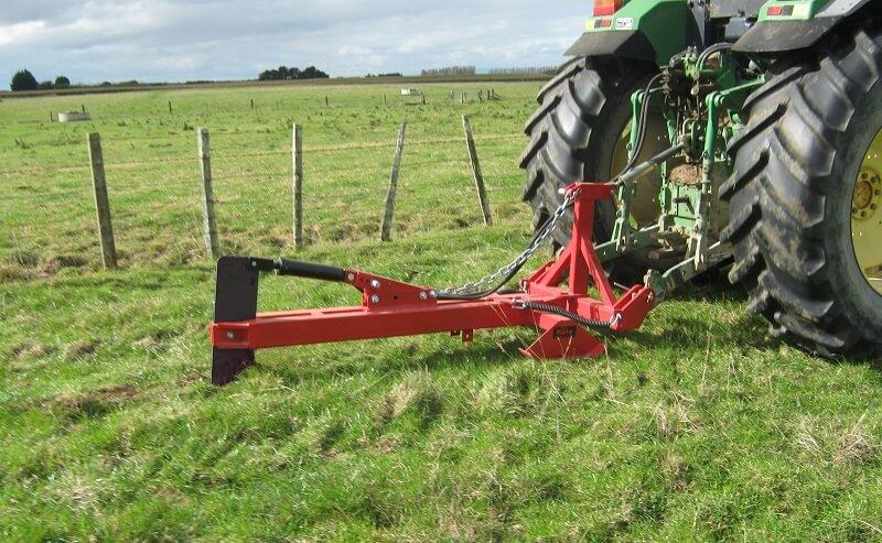 Action Mole Plough pulling through soil