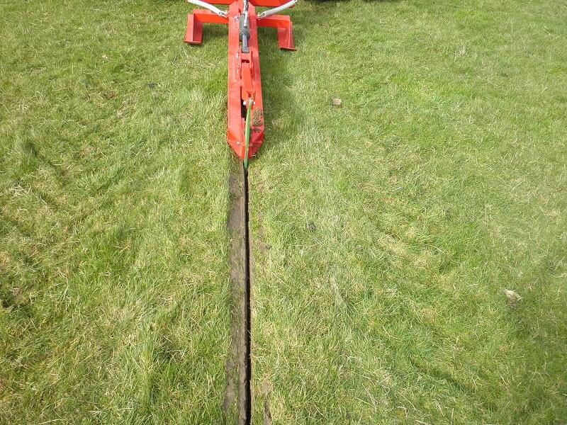 Rata Action Mole Plough's clean cut through pasture