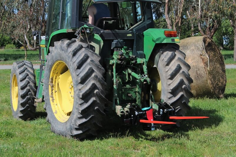 Rata Industries Tow Hitch combo on the back of a John Deere Tractor