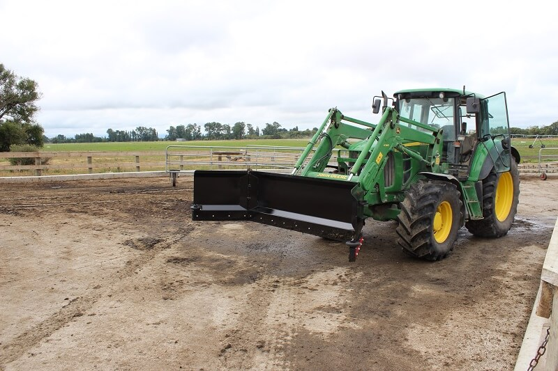 Rata Yard Scraper on John Deere Tractor Loader