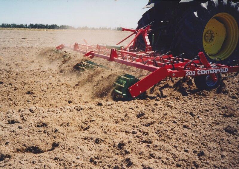 Rata Maxitill Cultivator behind John Deere Tractor