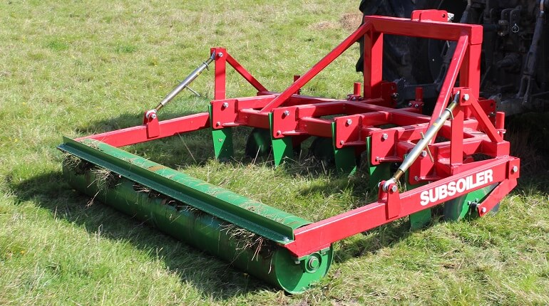 Rata Subsoiler at work aerating pasture