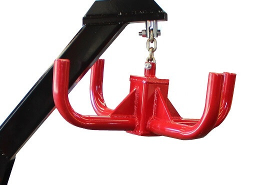Heavy Duty Hook on Rata Bag Lifters are welded & gusseted