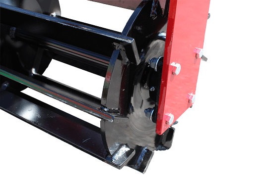 Crumbler rollers on Rata cultivators are held on by high quality bearings