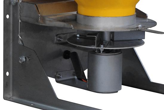 Stainless steel frame and 12V electric motor on Vogal Baitmax slug bait spreader