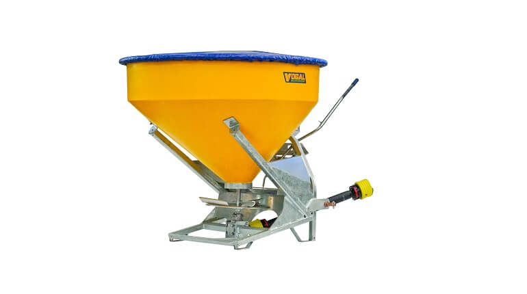 Vogal TPL750 bulk fertiliser spreader for tractor 3 point linkages