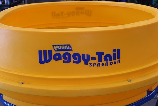 Heavy Duty Hopper of Vogal Waggy-Tail fertiliser spreader